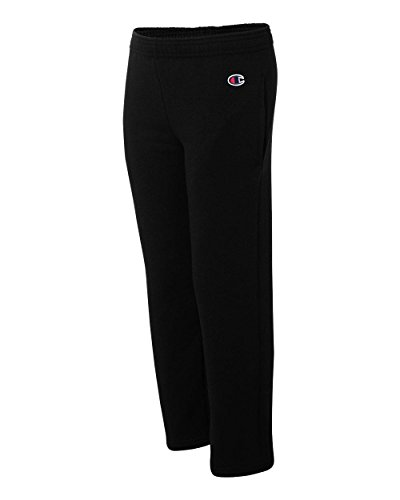 Champion Youth Eco 9 oz., 50/50 Open-Bottom Pants M BLACK