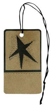 (Black Primitive Star Kraft Paper Gift Tag Country Christmas Gift Craft Décor)