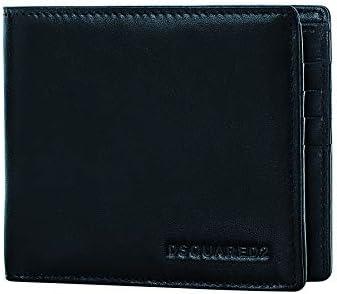 cbb8c5051eb2 DSQUARED2 Men Black Wallet - Bifold Designer Wallets For Men Made In ...