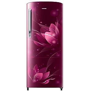 Samsung 192 L 2 Star Direct Cool Single Door Refrigerator (RR20A271BR8/NL, SAFFRON RED)
