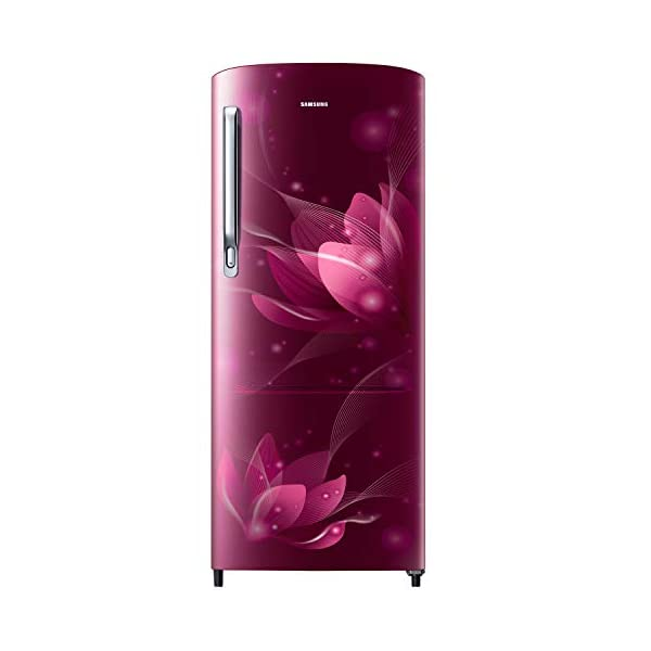 Samsung 192 L 2 Star Direct Cool Single Door Refrigerator (RR20A271BR8/NL, SAFFRON RED) 2021 August Direct-cool refrigerator : economical and Cooling without fluctuation Capacity 192 liters: suitable for families with 2 to 3 members and bachelors Energy rating 2 Star