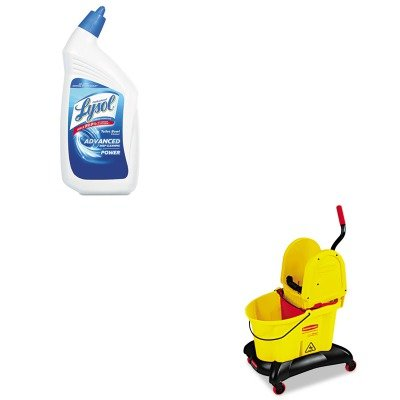KITRAC74278CTRCP7677YEL - Value Kit - Rubbermaid-Wavebreak Dual Water Down Press (RCP7677YEL) and Professional LYSOL Brand Disinfectant Toilet Bowl Cleaner (RAC74278CT)