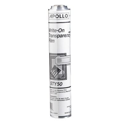 - Apollo Write-On Roll Film Roll, 9.75 x 7.75 x 5 Inches, Clear (VSTY-50)