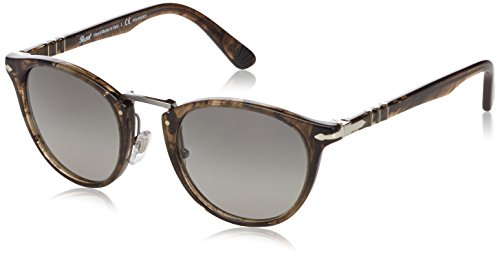 Persol Men's PO3108S Sunglasses Striped Beige / Grey Gradient Dark Grey Polar - Eyeglasses Polar