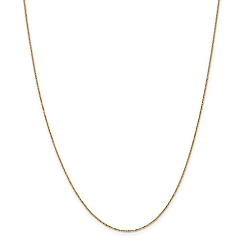 ICE CARATS 14k Yellow Gold .8mm Baby Spiga Link Wheat Chain Necklace 18 Inch Fine Jewelry Gift Set For Women Heart by ICE CARATS (Image #4)