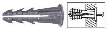 C.R. LAURENCE 1329 CRL 3/16'' Plastic Screw Anchor with Shoulder - 1000 Pack