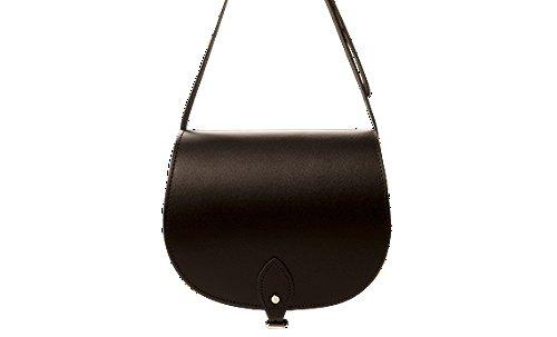 ANU® SW9 ★Genuine Leather Ladies Saddle Satchel Handbag in British Satchel Style ★Handmade in England★Lifetime Warranty ★100% Moneyback Guarantee