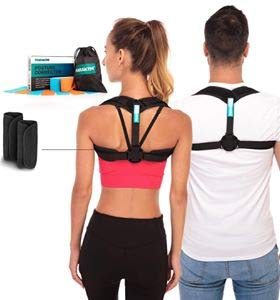 Marakym Posture Corrector – Adjustable Clavicle Brace to Comfortably Improve Bad Posture for Men and Women - Posture Corrector for Women and Men PLUS Kinesiology Tape and Carry Bag INCLUDED