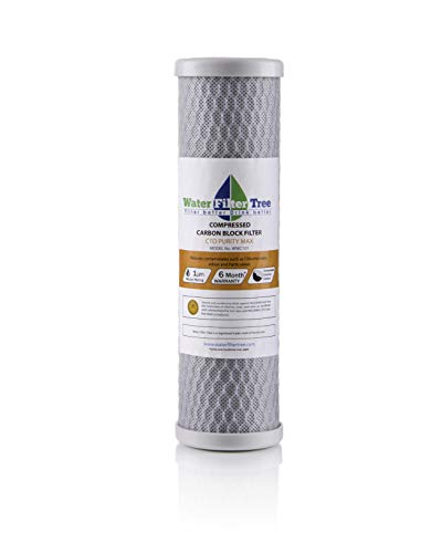 - NSF Certified Compressed Carbon Block Filter, CTO Purity MAX,10
