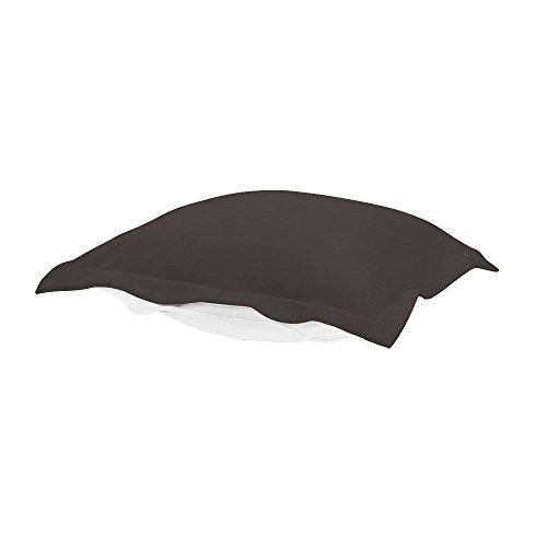 Howard Elliott QC310-460 Puff Patio Ottoman Cover, Seascape Charcoal