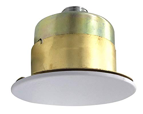 "UL Listed 1/2""NPT Fire Sprinkler Head 155°F (68°C) K=5.6 Concealed Pendent Spray K80 Standard Response for Automatic Fire sprinkler System Dia 5mm Bulb Concealed Head with White Cover Plate"