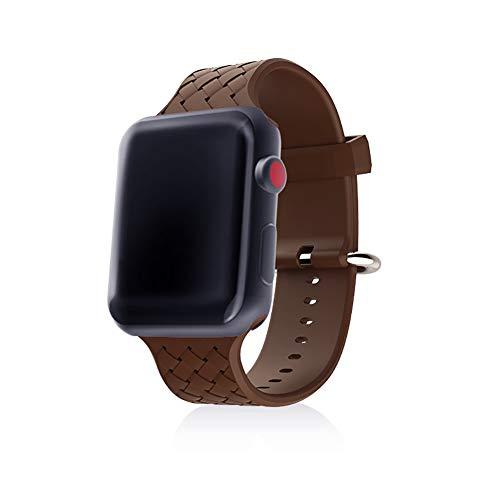 WANGKM Correa de Reloj de Apple 38mm/42 mm-Medio Ambiente Trenzado de Silicona aplicación iWatch Correa S2/S3 Universal...