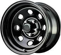 Pro Comp Wheels 97-7983F Rock Crawler Series 97 Black Monster Mod Wheel; Size 17x9; Bolt Pattern 6x5.5; Back Space 4.25 in.; Flat Black Finish;