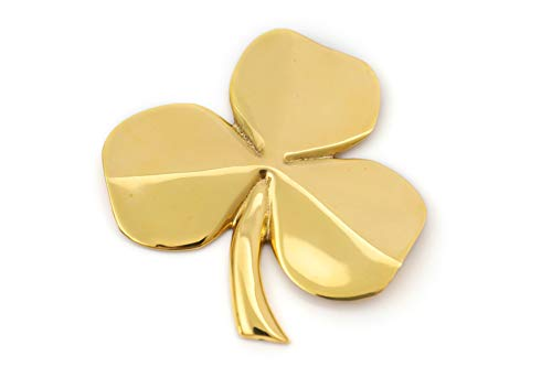 Brass Shamrock Wall Hanging Good Luck Blessing ()