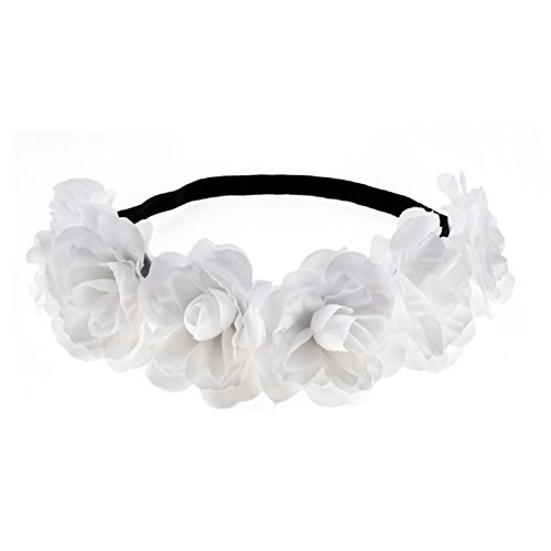 (Love Sweety Rose Flower Headband Floral Crown Mexican Hair Wreath)