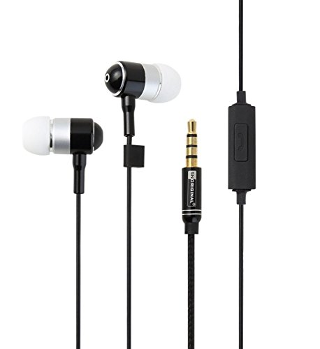 snoriginal In-Ear Earphones Headphones 3.9ft 1.2m Remote Control for [ iPhone 6s 6s Plus iPhone6 6plus 5S 5C 5 4S / Xperia / Android / Galaxy ] Black