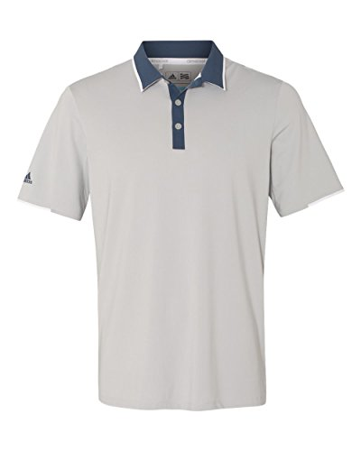 adidas Golf Mens Climacool Performance Polo (A166) -Stone/Min ()