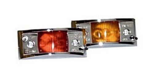 RV Trailer Camper Vanguard Ii Chrome Clearance Marker Light Red PM V122XR Peterson Mfg.