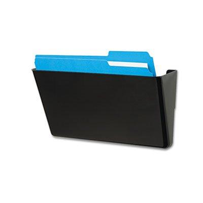 DocuPocket Stackable Wall Pocket, Plastic, Letter, 13 x 4 x 7, Black -
