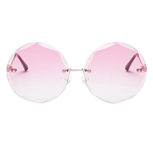 Meijunter soleil Miorre Rose Oversized Lenses Sports Métal Conduite Mode Protection Cadre lunettes Rétro Sans UV400 Lunettes de monture Polygonal Géométrie HrqrI6Y