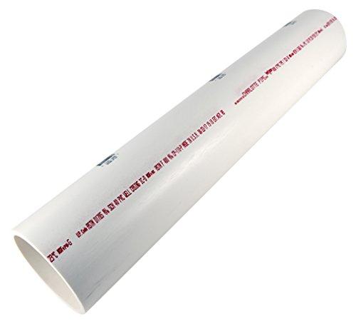 Charlotte Pipe PVC 07400 0200 DWV SCH 40 PE Pipe, 2', PVC, 4