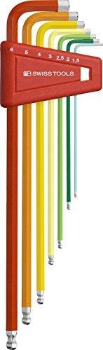 pbスイスツールPB 212lh-6 RB Ballend六角キーセットLong Rainbow by PBスイスツール B01MTR3T9G