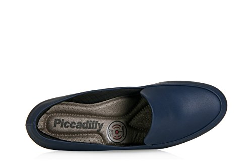 Imbottita Nera Basso A Sottogonna E Blu Scarpa Scuro Con 110102 Medio Piccadilly Tacco 4U7X1Xv