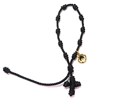 Black One Decade Thread Rosary for San Charbel Makhluf Single Decade Rosary Small Rosary