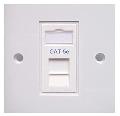 Single Cat5E Wall Outlet Faceplate Rj45 Network Socket: Amazon.co.uk ...