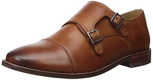 Florsheim Men's Montinaro Double Monk Dress Penny Loafer, Saddle tan, 12 Wide ()