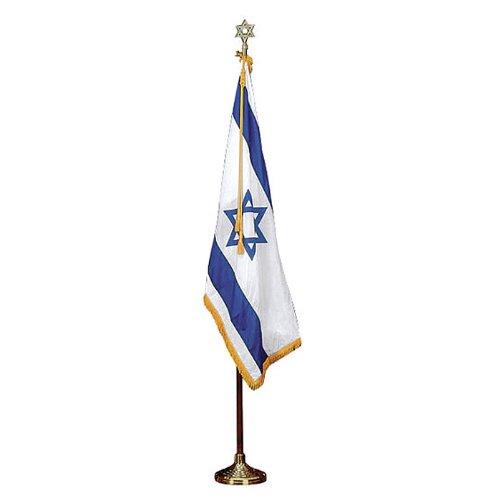 Israel Flag - Indoor Set 8' Pole 3 ft. x 5 ft. Flag