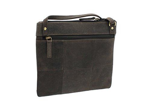 bolso cuero Brown Barro de del estilo Visconti 18608A fRSqwHq