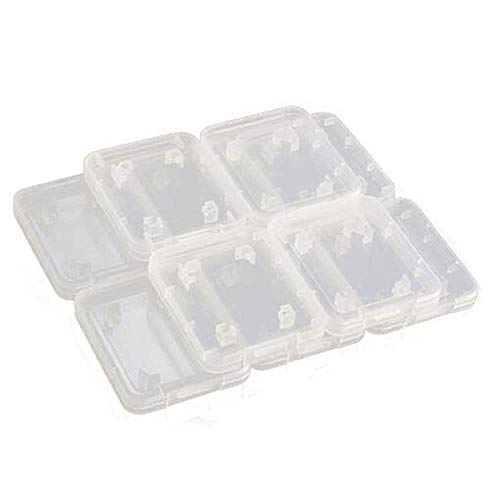 GOOTRADES 20 x Funda Transparente Forros para Tarjetas de Memoria Plástico Caja Estuche Guardar Estándar Micro SD, SDHC Tarjetas de Memorias