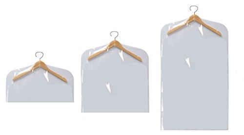 Orolay Polyester PVC Transparent Storage Garment Bags (6 PCS Collection, (Lightweight Tri Fold Garment Bag)