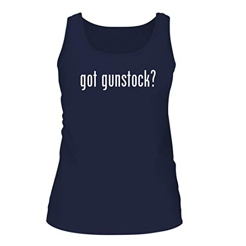 Shirt Me Up got Gunstock? - A Nice Women's Tank Top, Navy, Large ()