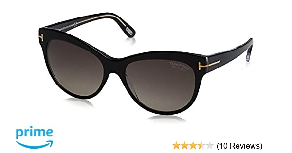 705b379c9cc6 Tom Ford 430 05D Black Lily Cats Eyes Sunglasses Polarised Lens Category 3  Size at Amazon Women s Clothing store