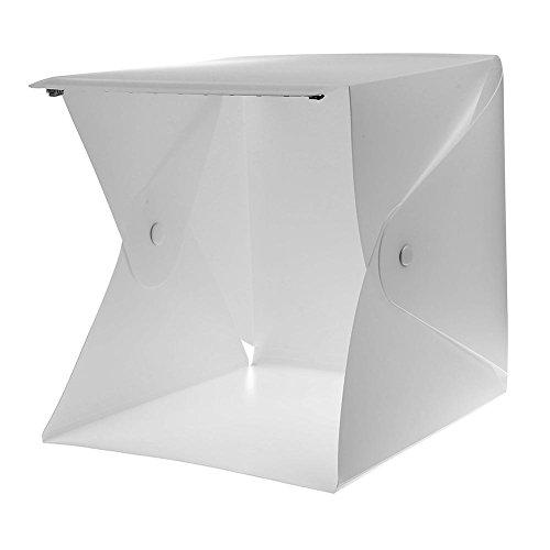 UEB Folding Lightbox Portable Mini 2 LED Light Folding Lightbox Photography Background Backdrop Cube Photo Studio Box Softbox by UEB