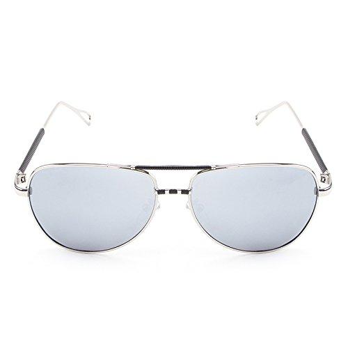 de de vendimia de hombres Silver Gafas Sol UV viaje Diseñador De clásica Gafas marca de la gafas de sol Gafas sol Gafas piloto masculinas de la polarizadas Gafas de MXNET xnwqUBqR