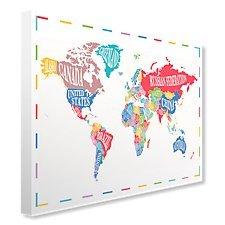 Typo world map canvas high quality decorative art print 16 x 12 typo world map canvas high quality decorative art print 16 x gumiabroncs Gallery