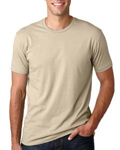 Next Level Mens Premium Fitted Short-Sleeve Crew T-Shirt - Large - Cream
