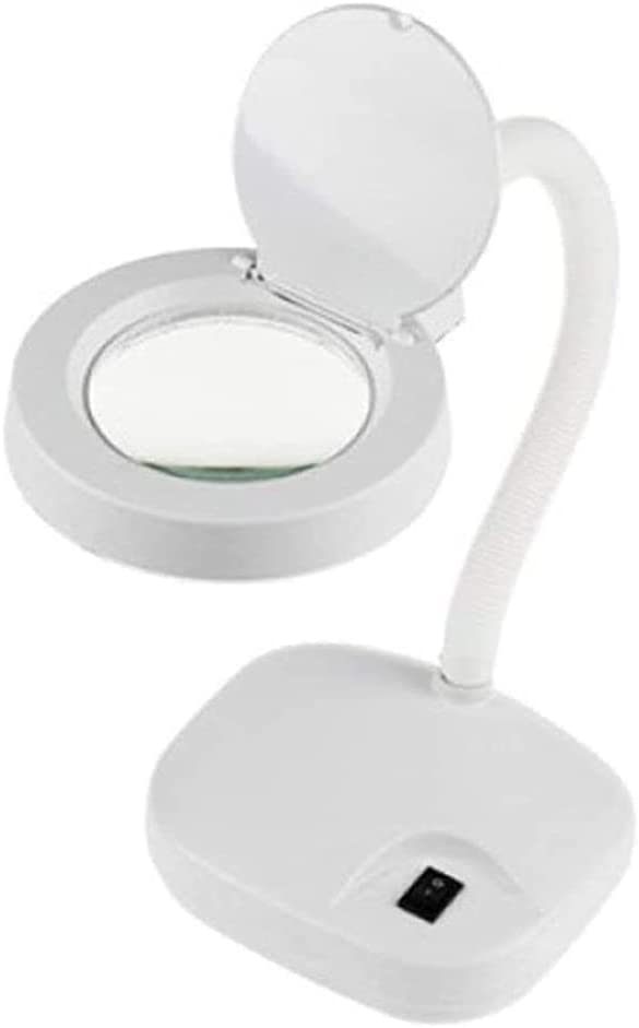 DJASM Whiter Magnifier Desktop Foldable Children Hobby Night Book Reading Crafts Jewelry Identification Hd Led Light Handheld Versatile