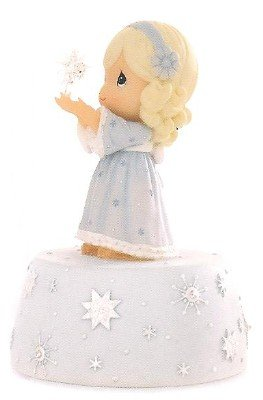 PRECIOUS MOMENTS Girl w Star MUSICAL FIGURINE music box (Box Music Bisque)