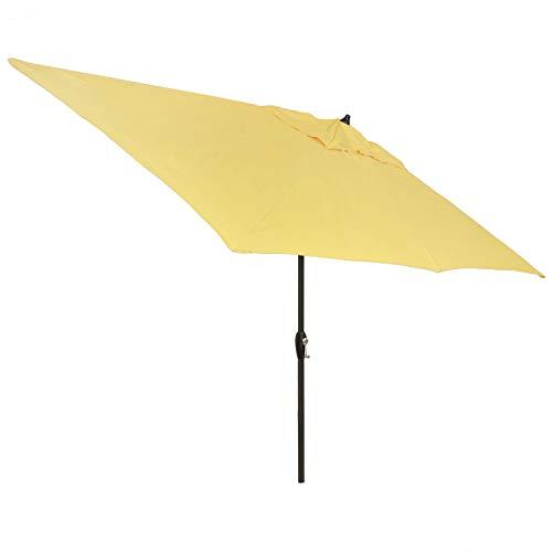 Plantation Patterns 6.5x10' Rectangular Patio Umbrella with