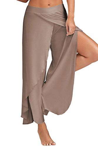 Harem Jogging Leg Palazzo da Hop Baggy Gamba con Boho Sportivi Hippie Wide Chic Pantaloni Donna Pantalone Estivo Tuta Turchese Danza Yoga per Larghi Pigiama Jumpsuit Spacco Trousers Palestra Lungo Hip Pants qxPzcgf5