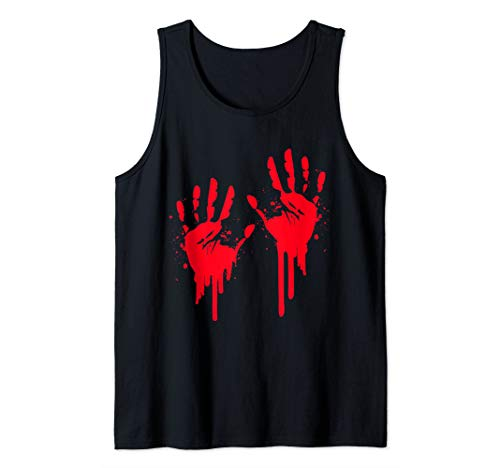 Halloween Handprint Ideas (Halloween Bloody Hands Print Costume Zombie Outfit Tank)