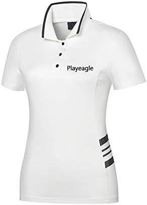 HWTP Camisa de Golf para Mujer - Cuello Alto de Moda, Camiseta ...