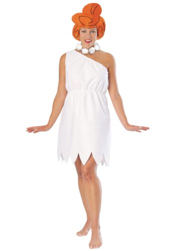 Cartoon Based Halloween Costumes (The Flintstones Wilma Flintstone Costume, White, Standard)