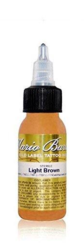 (Light Brown Mario Barth Gold Label - Intenze Tattoo Ink - 1oz)