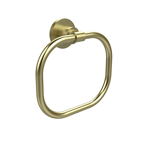 (Allied Brass WS-16-SBR Washington Square Collection Towel Ring, Satin Brass)