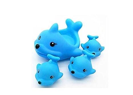 Heylookhere giocattoli da bagno set di 4 pezzi cute cartoon delfino